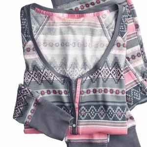 Victoria's Secret Fireside Long Jane Pajama Top S